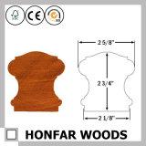 Corrimão mais barato da madeira de pinho 80X80mm para a decoração Home