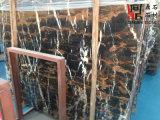 カウンタートップのための自然な石造りの高品質の建築材料の黒の大理石の平板ミハエルアンジェロ