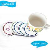 PVC Copas Mat Coaster redonda con sublimación en blanco