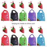 Bw1-080 het Winkelen van de Gift van de Zak van de Aardbei van het Nylon/van de Polyester Opnieuw te gebruiken Vouwbare Zakken