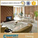 (A8037) Diseño principal de cristal mesa de comedor con Comedor