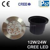 Lumière souterraine du CREE DEL de l'acier inoxydable 12W (JP824121-H)