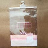 Bolso de ropa claro del PVC de la alta calidad con la percha