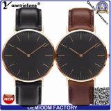 Reloj caliente de Dw del reloj del hombre de la cara negra de la venta Yxl-008