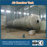 Aplicações industriais com grande tanque de receptor de ar