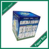Gewölbtes Papier-Fußball-Kugel-Kasten mit Fenster-Entwurf