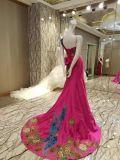 Новые прибытия замужества вышивки Phonix платья 2017 вечера