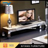 現代居間の家具の黒ガラスTVのキャビネット