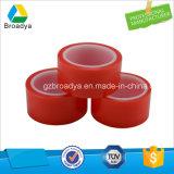 Doble cara cinta adhesiva de la peluca para las extensiones del pelo (BY6965R-cinta del poliester con el trazador de líneas rojo de la película)