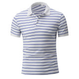 Overhemd van het Polo van de Streep van het Merk van de douane het In het groot voor Mensen