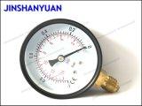 Gpg-014通常の真空の圧力計か底タイプ圧力計