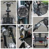 정면 24inch 타이어 바퀴 화물 전기 세발자전거