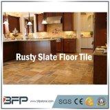 Mattonelle di pavimentazione di pietra naturali assolutamente arrugginite dell'ardesia e mattonelle della parete