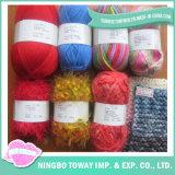 Anel extravagante lãs acrílicas de nylon giradas personalizadas que tricotam manualmente o fio