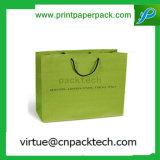 La coutume colore le sac de papier de cadeau non-tissé de sucrerie avec le traitement