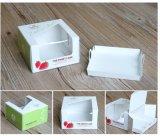 Rectángulo de papel de encargo sano del rectángulo de torta con la ventana