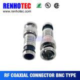 Connettore di compressione della spina maschio di BNC per cavo RG6