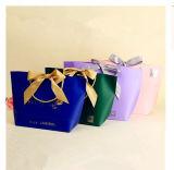 Sac de papier réutilisé Écho-Amical de luxe de couleur de promotion de cadeau fait sur commande d'impression avec le meilleur prix