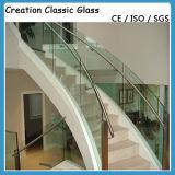 Glace Tempered courbée pour le mur rideau/glace en verre de construction