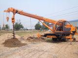 Kleiner anhebender 6 Tonnen-Rad-LKW-Kran mit haltbarer Bohrung