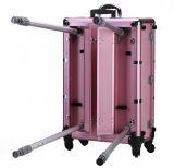 ピンクの装飾的な美のライト及び立場との国際的な構成のケース