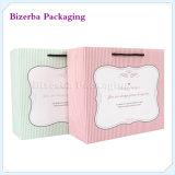 習慣は印刷した綿のハンドル(BP-BC-0033)が付いている贅沢なクラフトのギフトのペーパーショッピング買物袋を