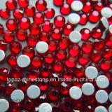 Rhinestone cristalino rojo de Hotfix del Rhinestone de la tela del Rhinestone de Ss16 4m m Tailandia (HF-ss16 siam/4A)