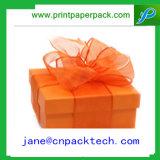 Коробки коробки подарка тесемки коробка бумажной косметической упаковывая