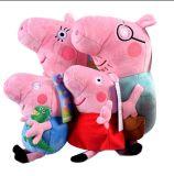 돼지 가족에 의하여 채워지는 견면 벨벳 인형 장난감