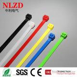 Enveloppes en plastique en nylon de relation étroite de serres-câble de relations étroites de la fermeture éclair PA66 de NLZD