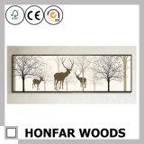 blocco per grafici di legno della pittura di arte degli alci di 30X120cm per la decorazione domestica
