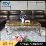 Móveis de sala de estar Mesa de café de mármore branco barato