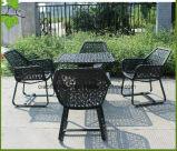 Do jardim ao ar livre de Ratan da mobília do lazer tabela de vime e cadeira