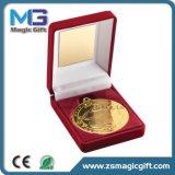 上の販売は金の記念品メダルをカスタマイズした