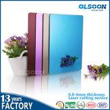 Guangzhou Fabrication Olsoon d'or acrylique Miroir feuille plastique PMMA Miroir mural