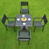 فناء أثاث لازم خارجيّة ألومنيوم بلاستيكيّة خشبيّة سلاح كرسي تثبيت طاولة ([ج815])