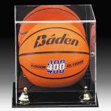 Rectángulo de acrílico del cubo de la visualización del balón del baloncesto y de fútbol