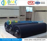 rodillos del transportador del negro de la rueda loca del transportador del HDPE del sistema de transportador del diámetro de 102m m