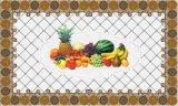 Tablecloth transparente impresso LFGB independente 80*130cm do teste padrão do projeto