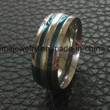 Голубое кольцо перста ювелирных изделий Placted удобное полируя (SSR2696)