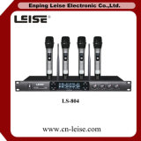 Microphone fixe de radio de doubles canaux de fréquence ultra-haute de Ls-804 Frequecy