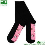 Calcetines de encargo del equipo del color de rosa de la fábrica de China
