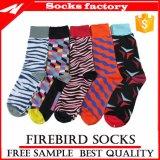 Bunte und glückliche Kleid-Socken mit kundenspezifischen Socken