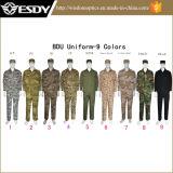 9つのカラー軍の戦術的なカムフラージュ、軍隊のユニフォーム