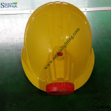아BS와 플라스틱 클립을%s 가진 새로운 2500mAh 안전 헬멧 모자 램프