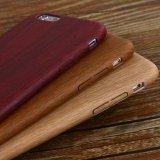 Revestimento lustroso de madeira natural grão PU caixa de telefone móvel
