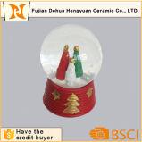De Bol van de Sneeuw van het Glas van de Kerstboom van de hars voor Kerstmis