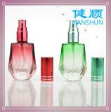 Frasco de perfume de vidro do pulverizador com o tampão de frasco de alumínio colorido