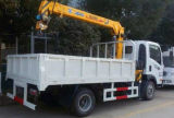 Piccolo camion della gru di 6 rotelle 2 tonnellate di gru montata camion