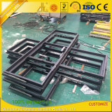 Customzied Powder estructura de aluminio acabado para cristal de ventana y puerta